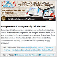 World Class Antiques Trip Planner