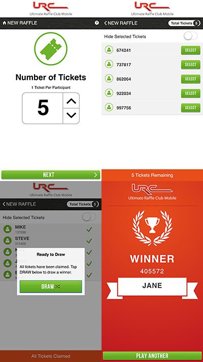 Ultimate Raffle Club Mobile App